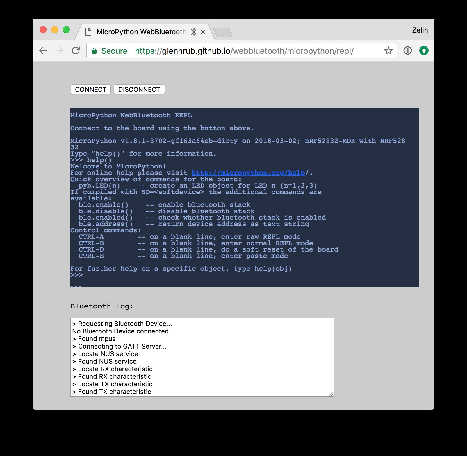 MicroPython - nRF52832-MDK Documentation
