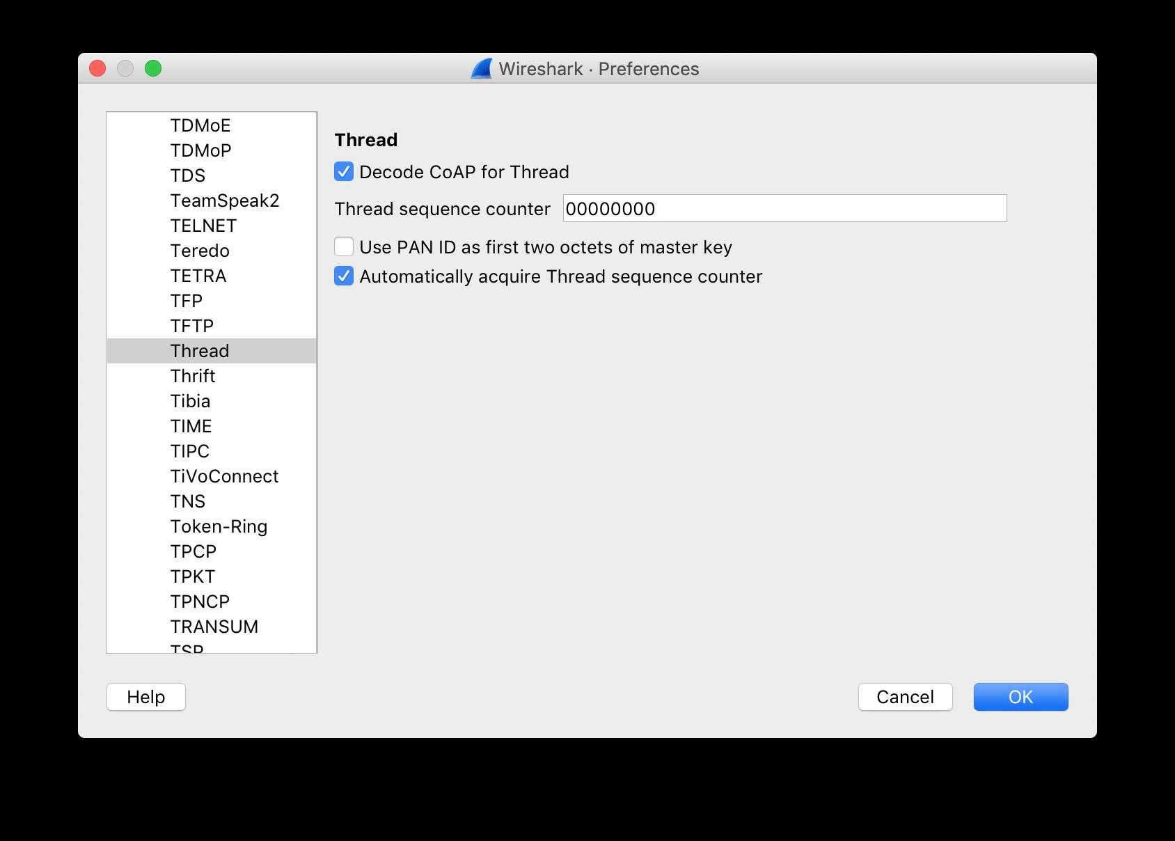 Thread Network Sniffer - Pitaya Go Developer Docs
